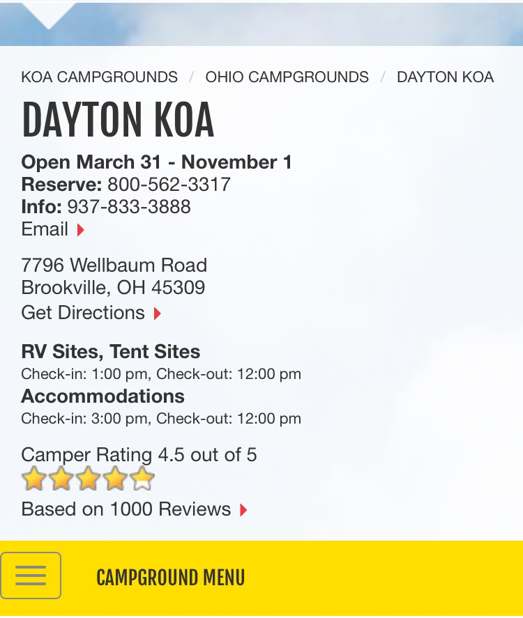 Dayton KOA 1